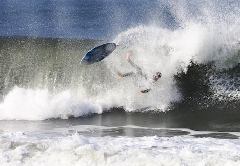 Off the lip and into the nose! shots by Rysurf.com
