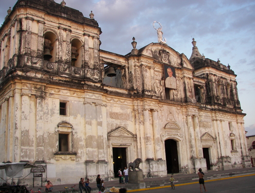 Old Spanish Architecture in the City of Leon